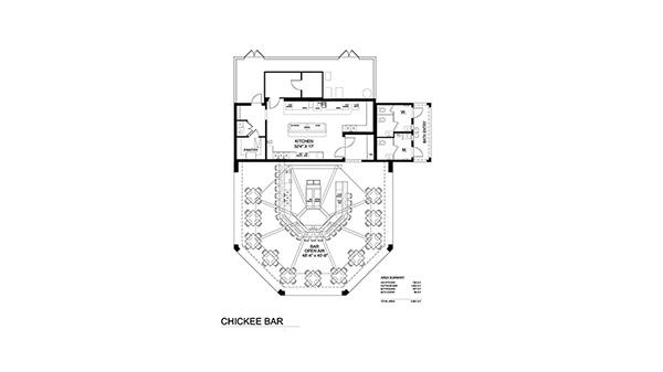 Chickee Bar Floor Plan