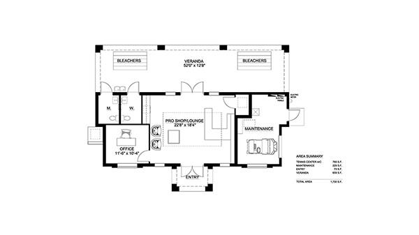 Tennis Center Floor Plan